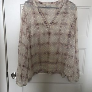 A New Day Sheer Cream Blouse XXL